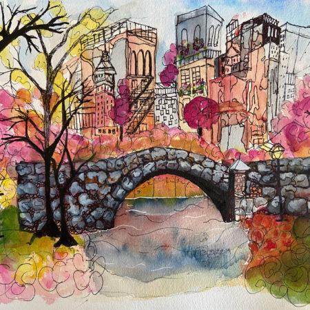 Pink Pebble Bridge